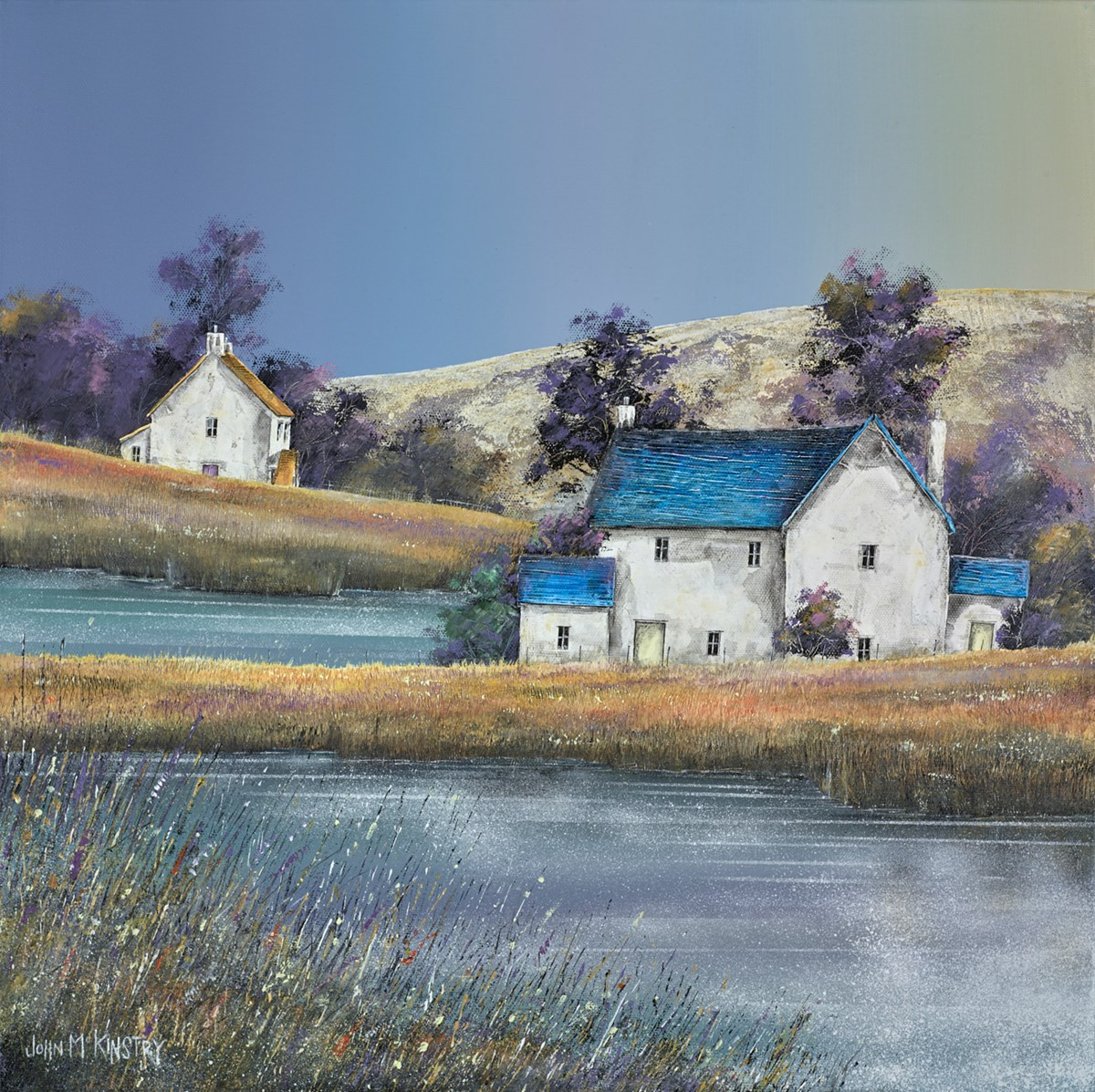 Mill Pond Cottage II by john mckinstry -  sized 20x20 inches. Available from Whitewall Galleries